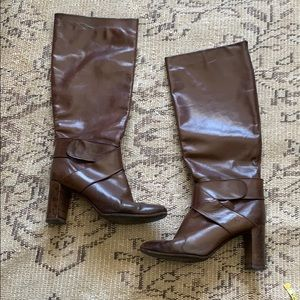 Shoes - Knee high dark brown boots
